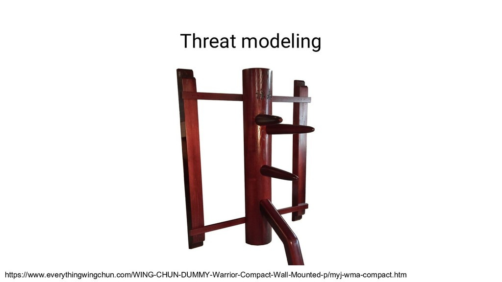 Threat modeling https://www.everythingwingchun....
