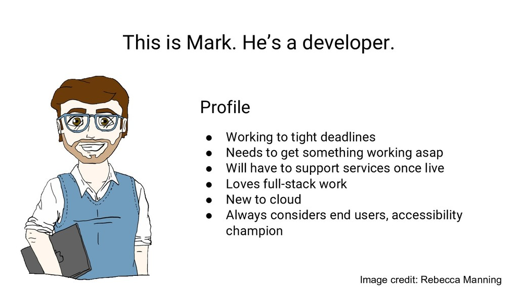 This is Mark. He's a developer. Profile ● Worki...