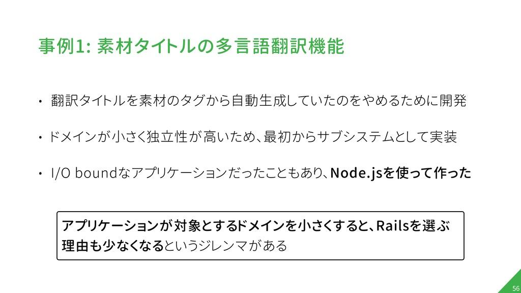 事例1: 素材タイトルの多言語翻訳機能 • 翻訳タイトルを素材のタグから自動生成していたのをや...