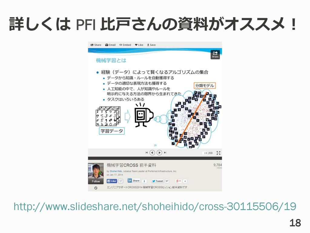 18 http://www.slideshare.net/shoheihido/cross-3...