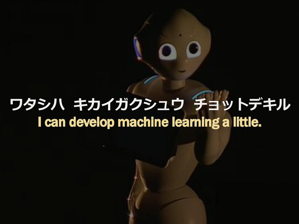 10 ワタシハ  キカイガクシュウ  チョットデキル I can develop ma...