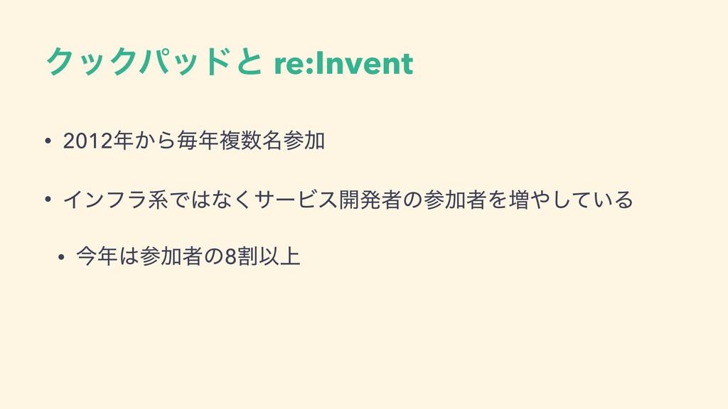 ΫοΫύουͱ re:Invent • 2012͔Βຖෳ໊Ճ • ΠϯϑϥܥͰͳ͘α...