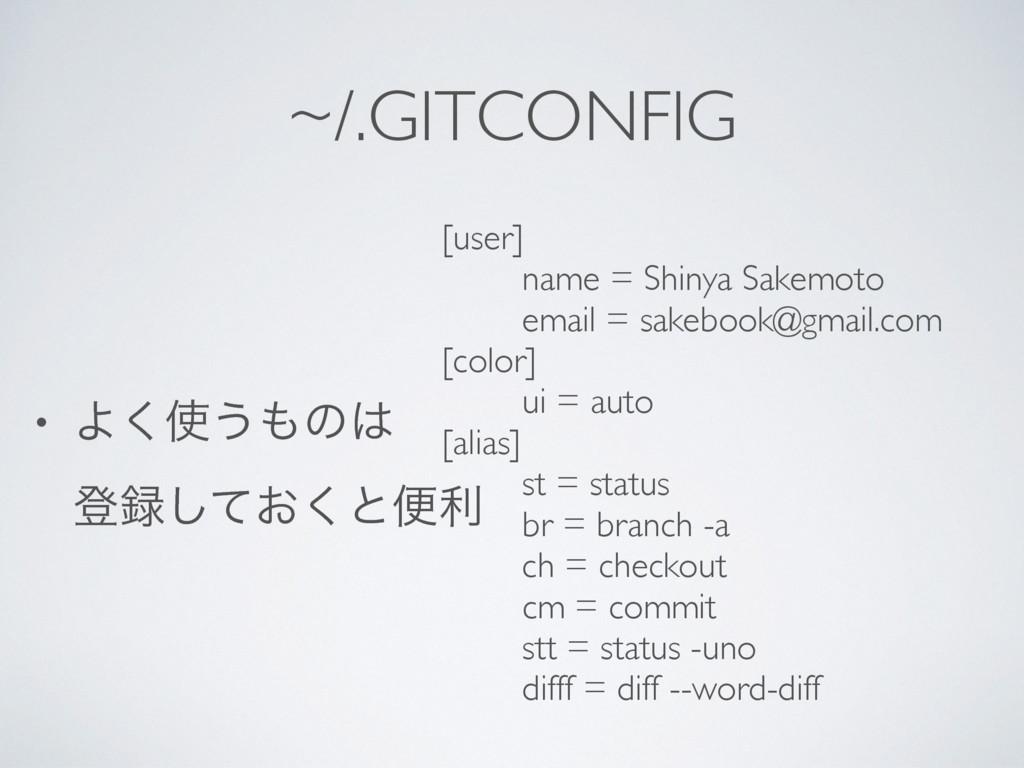 ~/.GITCONFIG [user] name = Shinya Sakemoto emai...