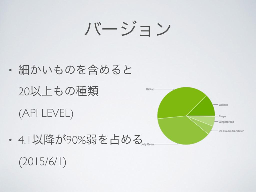 όʔδϣϯ • ࡉ͔͍ͷΛؚΊΔͱ 20Ҏ্ͷछྨ (API LEVEL) • 4.1...