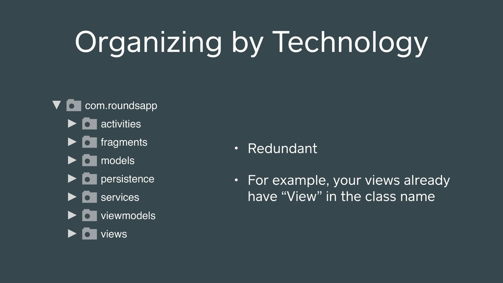 Organizing by Technology com.roundsapp models p...