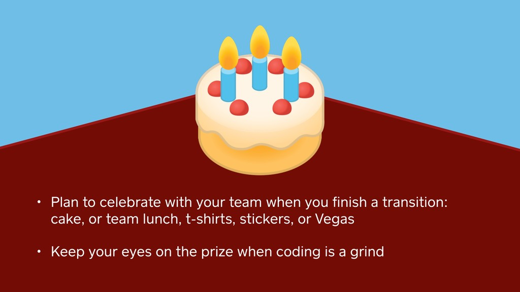 • Plan to celebrate with your team when you fini...