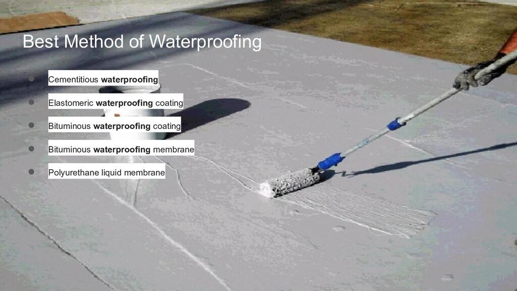 Best Method of Waterproofing ● Cementitious wat...