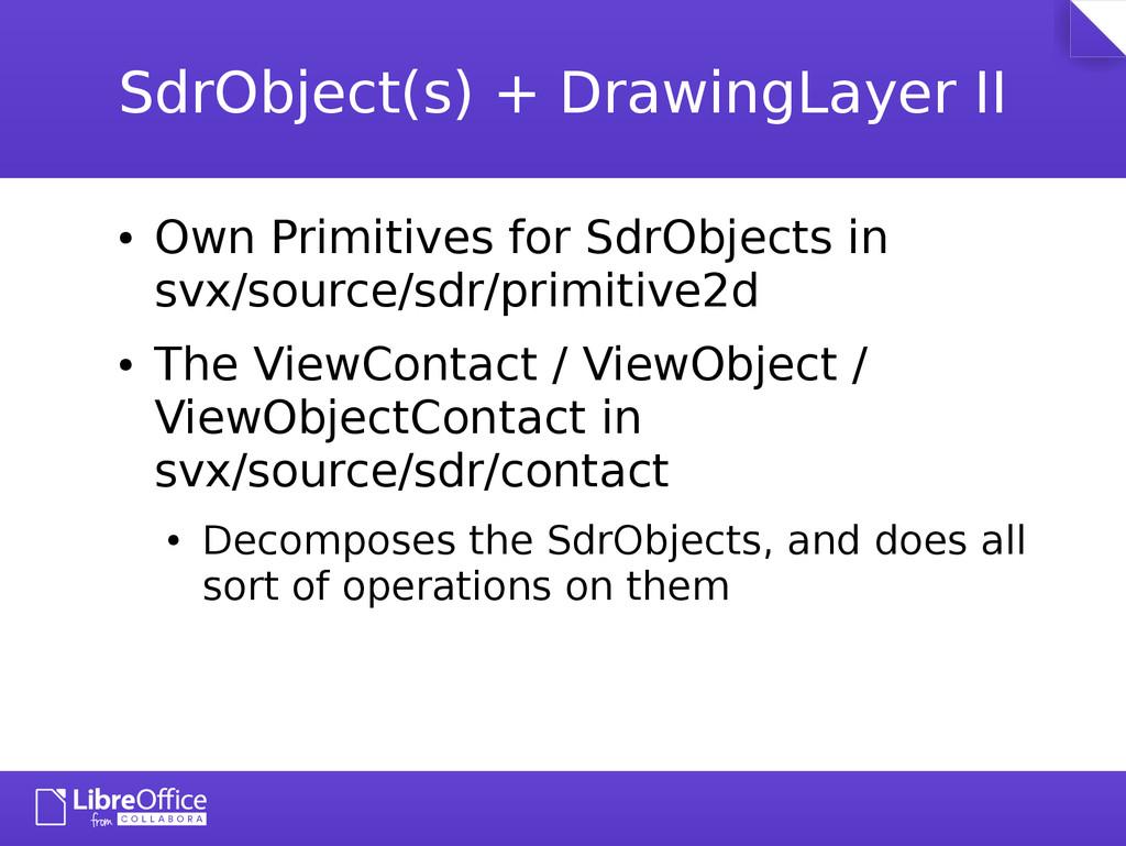SdrObject(s) + DrawingLayer II ● Own Primitives...