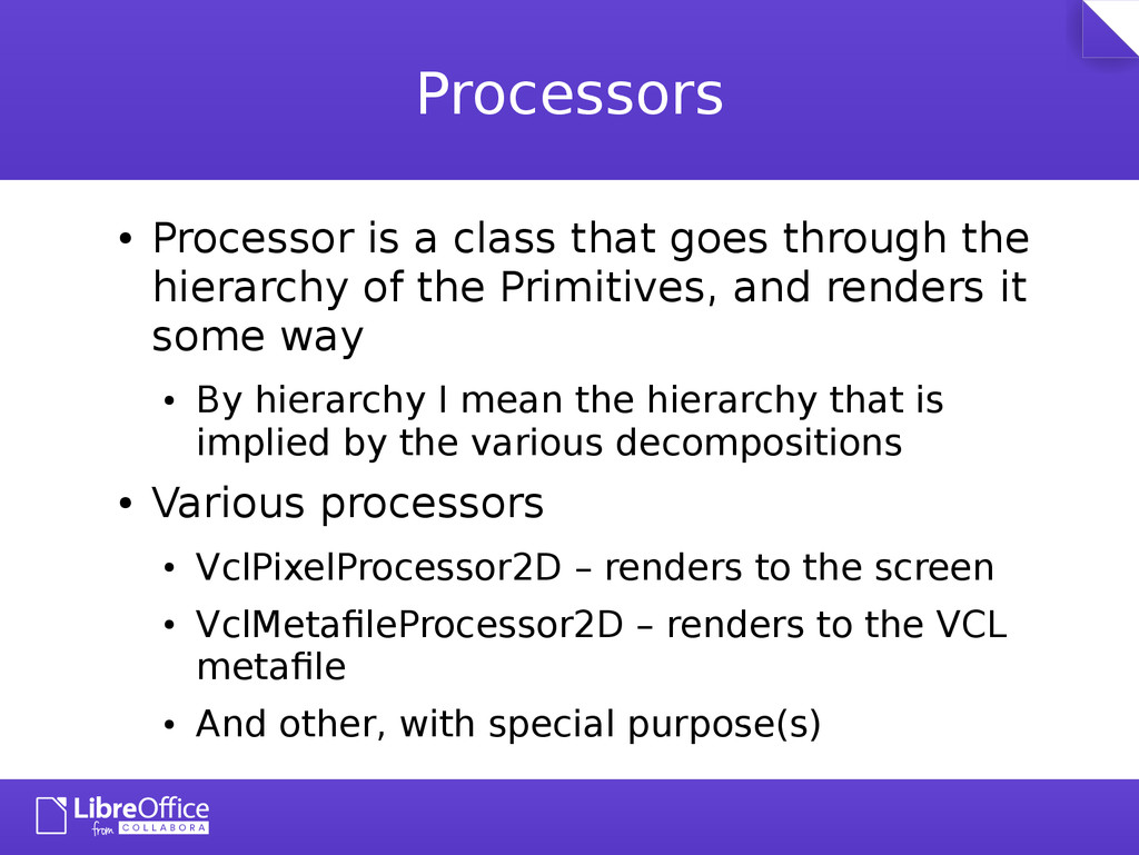 Processors ● Processor is a class that goes thr...