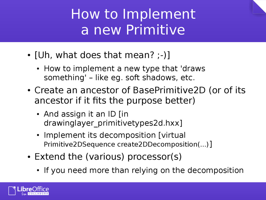 How to Implement a new Primitive ● [Uh, what do...