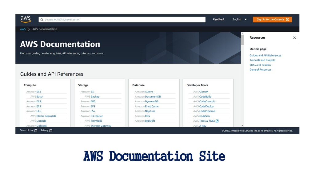 AWS Documentation Site