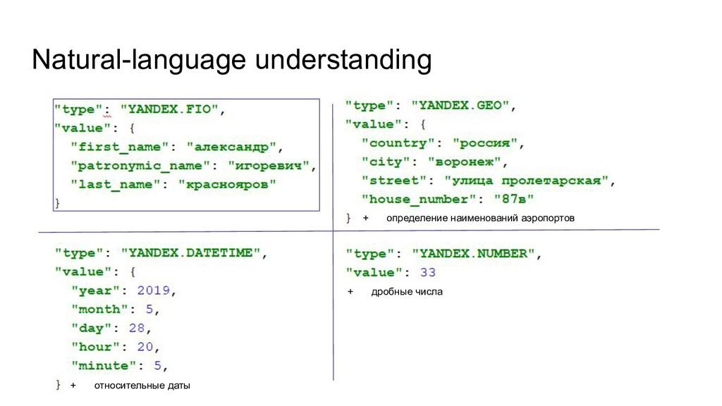 Natural-language understanding + определение на...