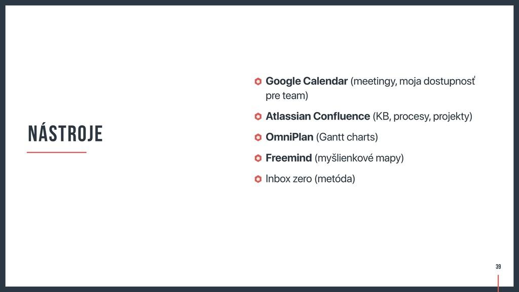 Google Calendar (meetingy, moja dostupnosť pre ...