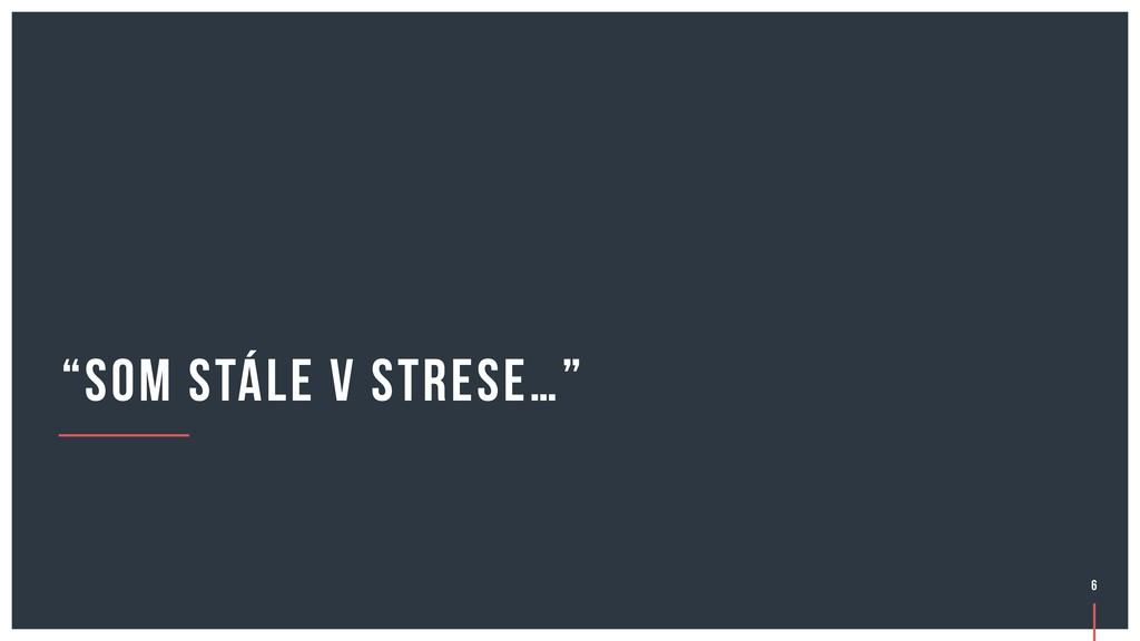 """""""som stále v strese…"""" 6"""