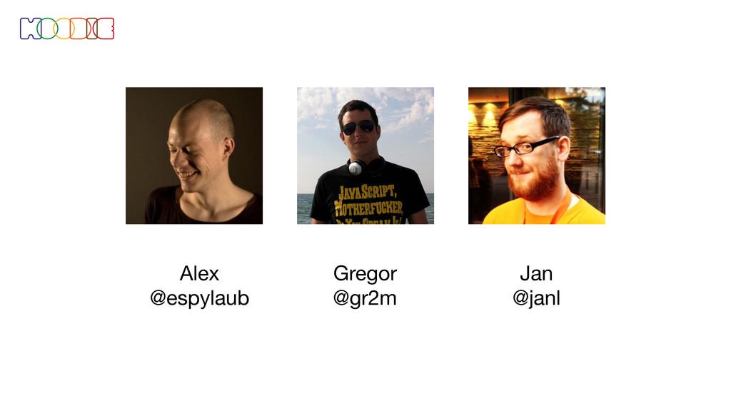 Gregor @gr2m Alex @espylaub Jan @janl