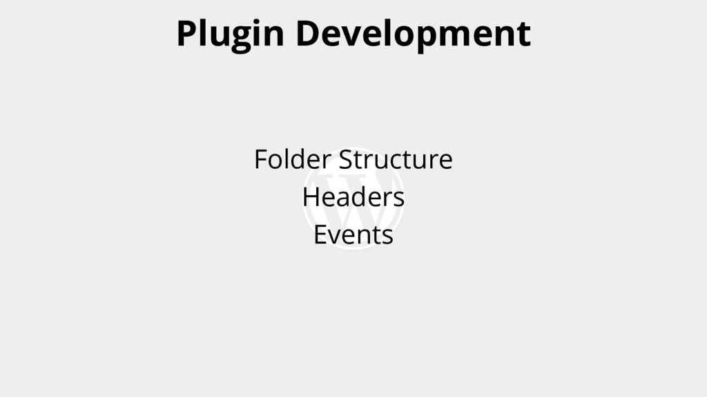 Folder Structure Headers Events Plugin Developm...
