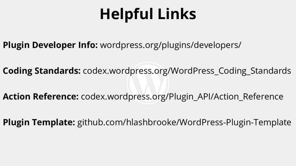 Plugin Developer Info: wordpress.org/plugins/de...