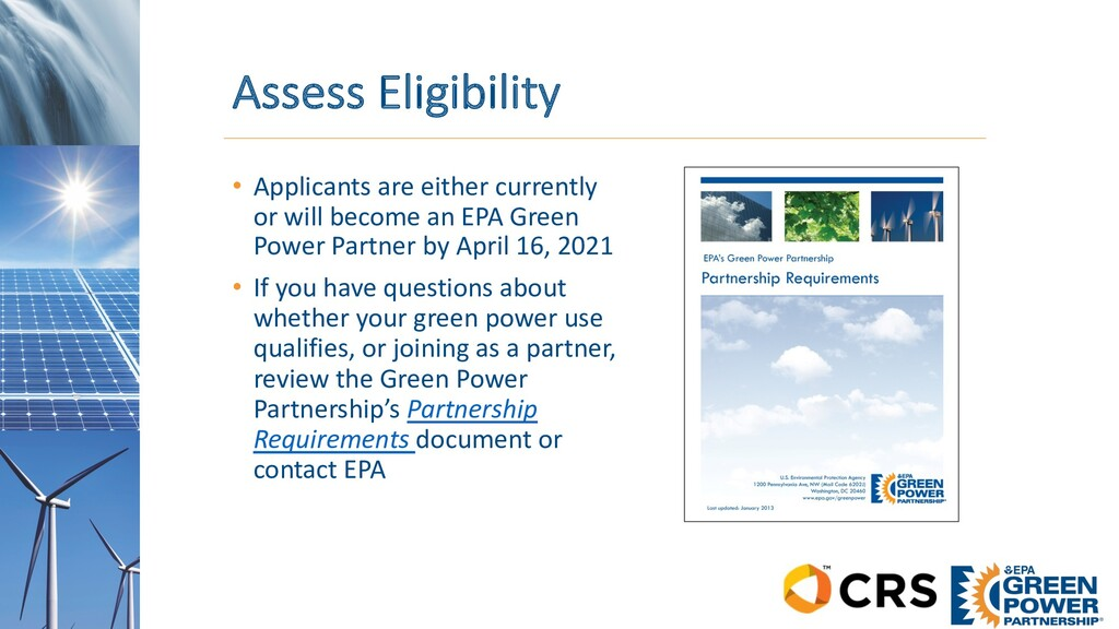 Assess Eligibility • Applicants are either curr...