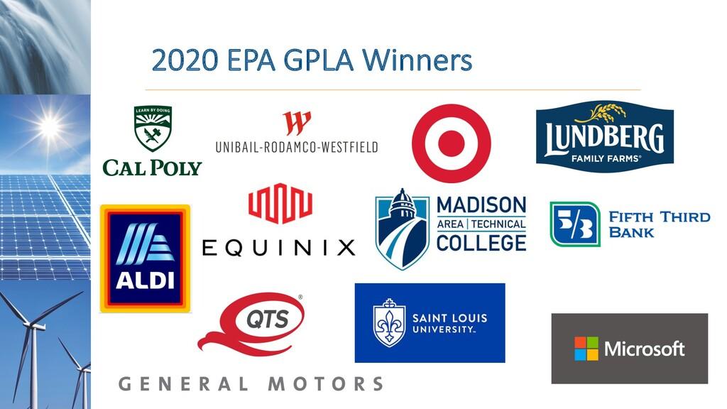 2020 EPA GPLA Winners