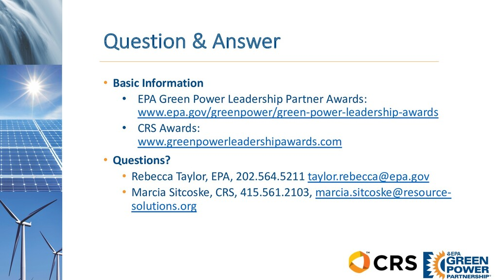 Question & Answer • Basic Information • EPA Gre...