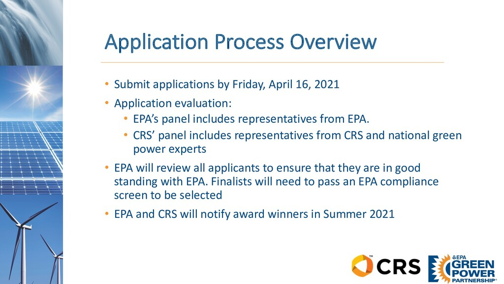 Application Process Overview • Submit applicati...