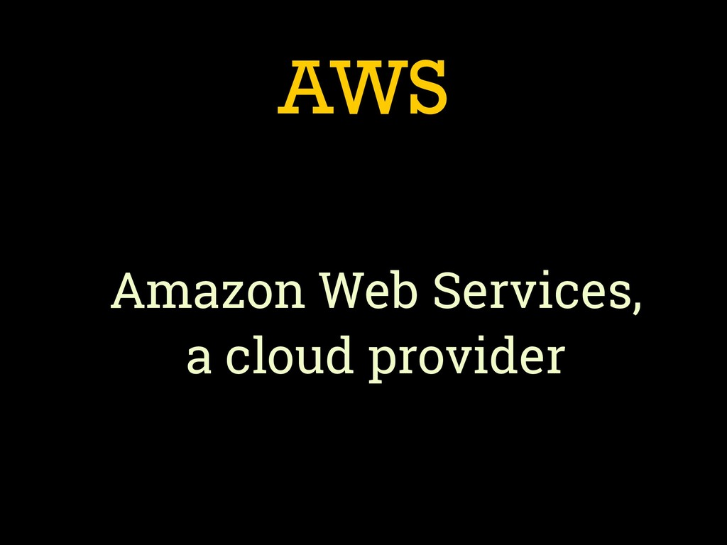 AWS Amazon Web Services, 