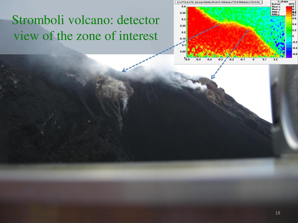 Stromboli volcano: detector view of the zone of...