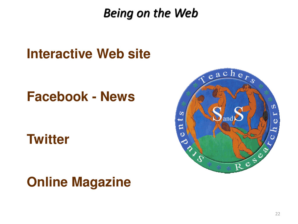 Being on the Web Interactive Web site Facebook ...