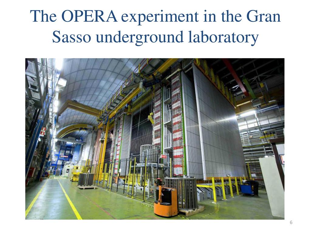 The OPERA experiment in the Gran Sasso undergro...