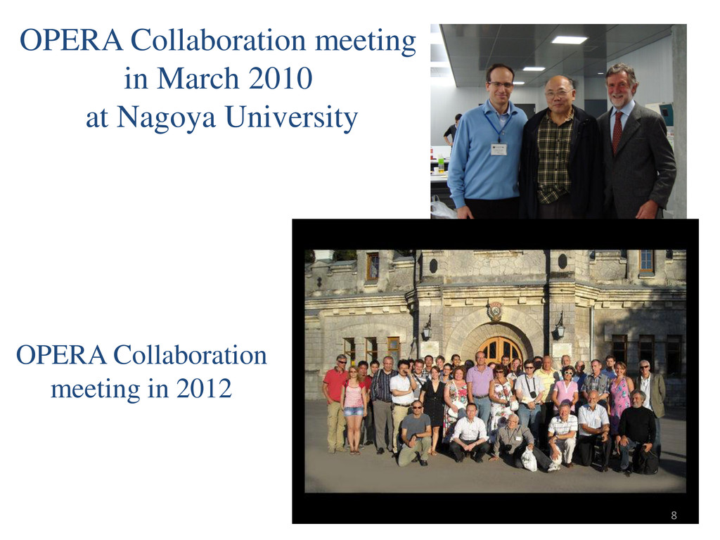 OPERA Collaboration meeting in March 2010 at Na...