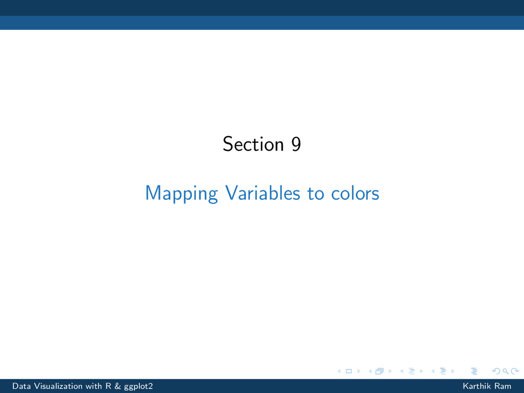Section 9 Mapping Variables to colors Data Visu...