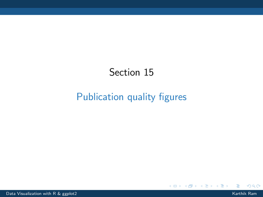 Section 15 Publication quality figures Data Visu...