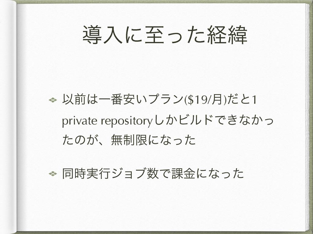 ಋೖʹࢸͬͨܦҢ ҎલҰ൪͍҆ϓϥϯ($19/݄)ͩͱ1 private repositor...