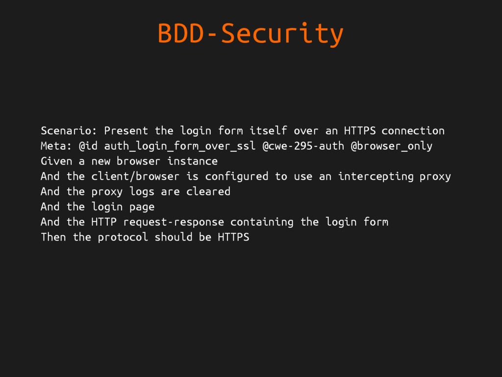 BDD-Security Scenario: Present the login form i...