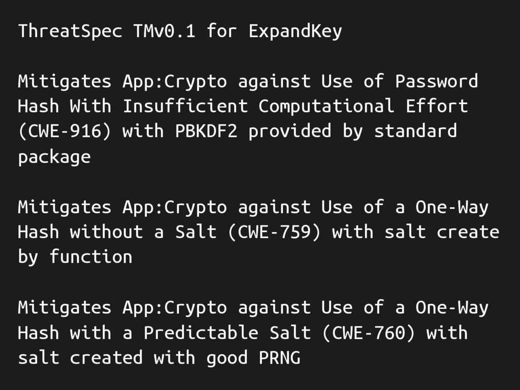 ThreatSpec TMv0.1 for ExpandKey Mitigates App:C...