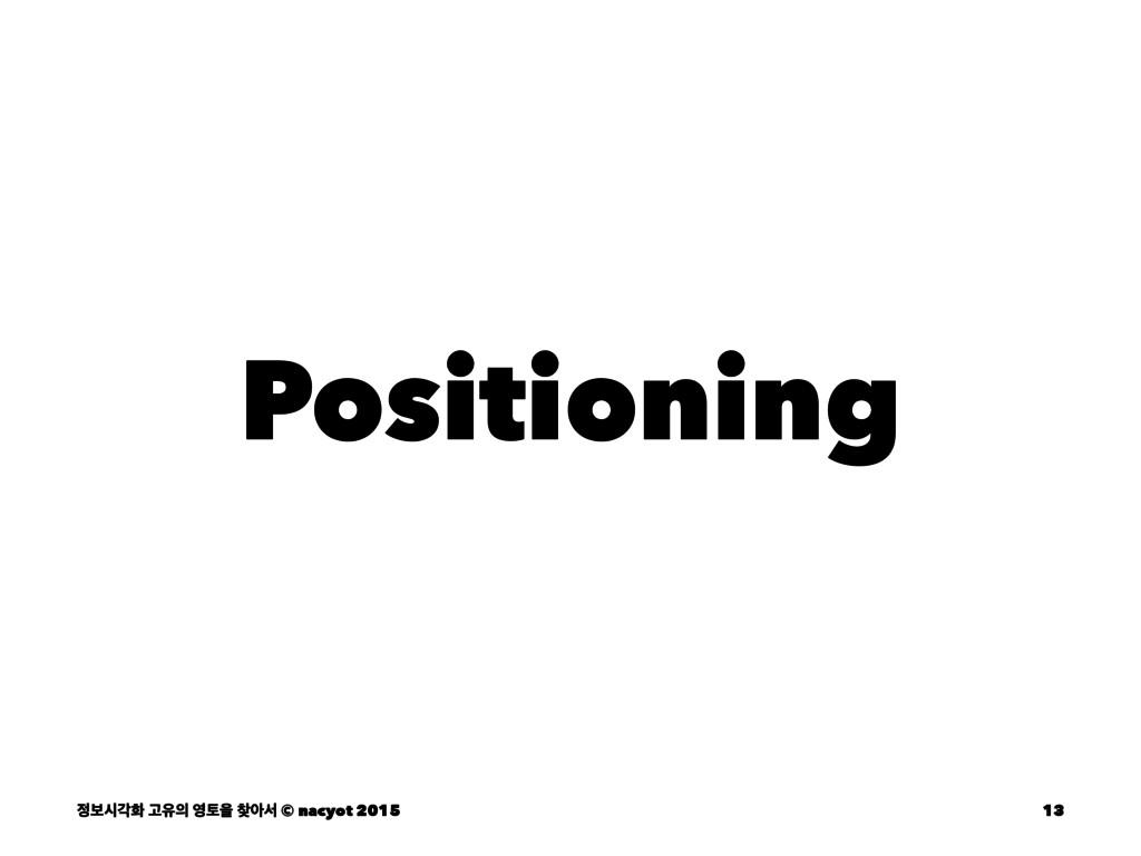 Positioning ࠁदпച Ҋਬ షਸ ইࢲ © nacyot 2015 13