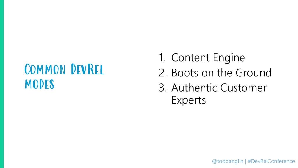 @toddanglin | #DevRelConference Common DevRel m...