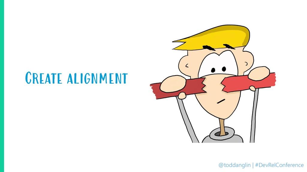 @toddanglin | #DevRelConference Create alignment