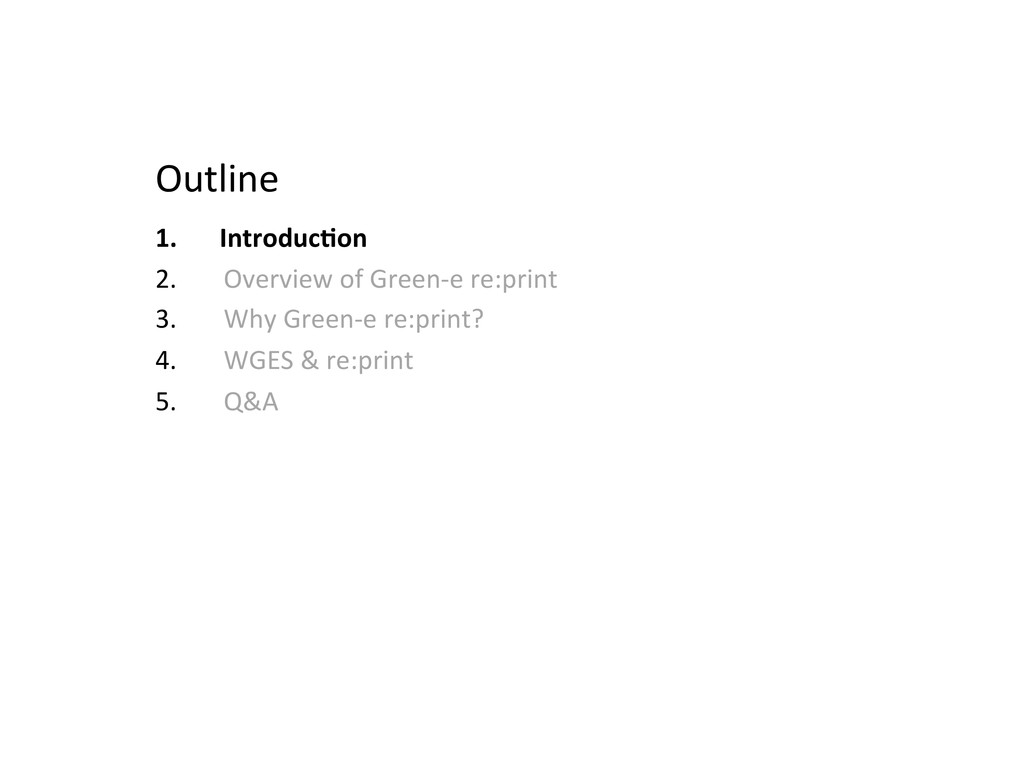 Outline  1. Introduc>on  2. Overview ...