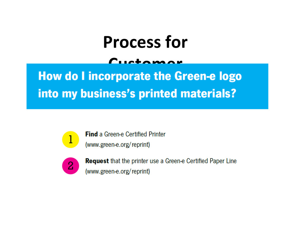 Process for  Customer