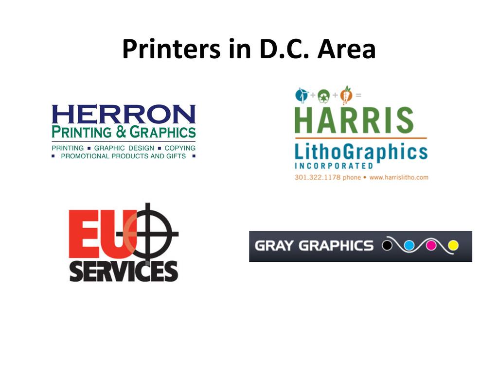 Printers in D.C. Area