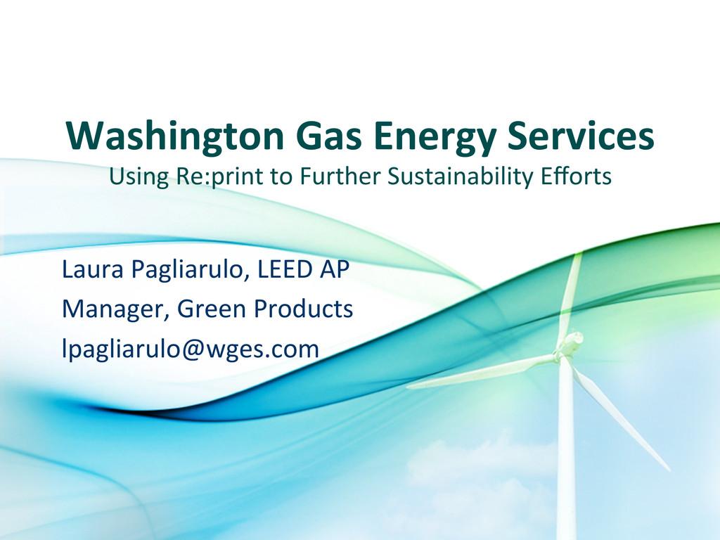 Washington Gas Energy Services  Usi...