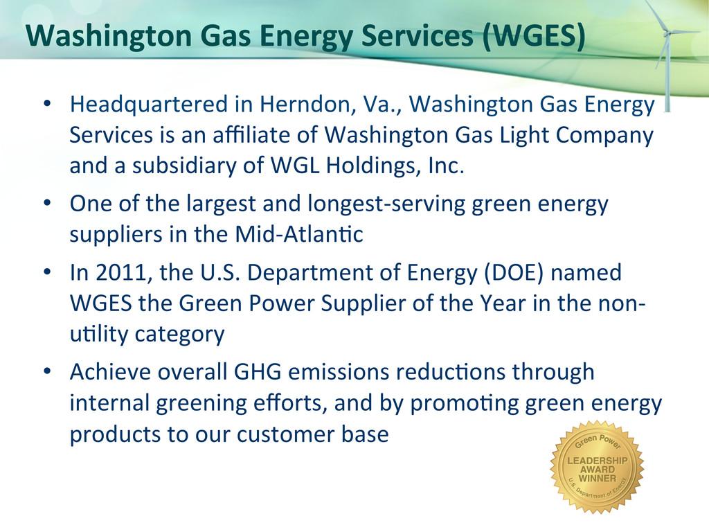 Washington Gas Energy Services (WGE...