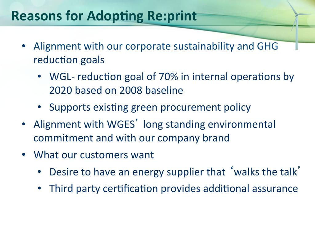 Reasons for Adop>ng Re:print  • Al...