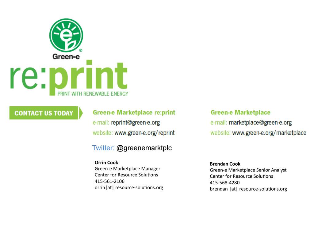 Orrin Cook  Green-‐e Marketplace M...