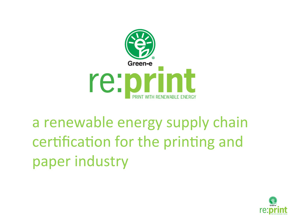 a renewable energy supply chain ...