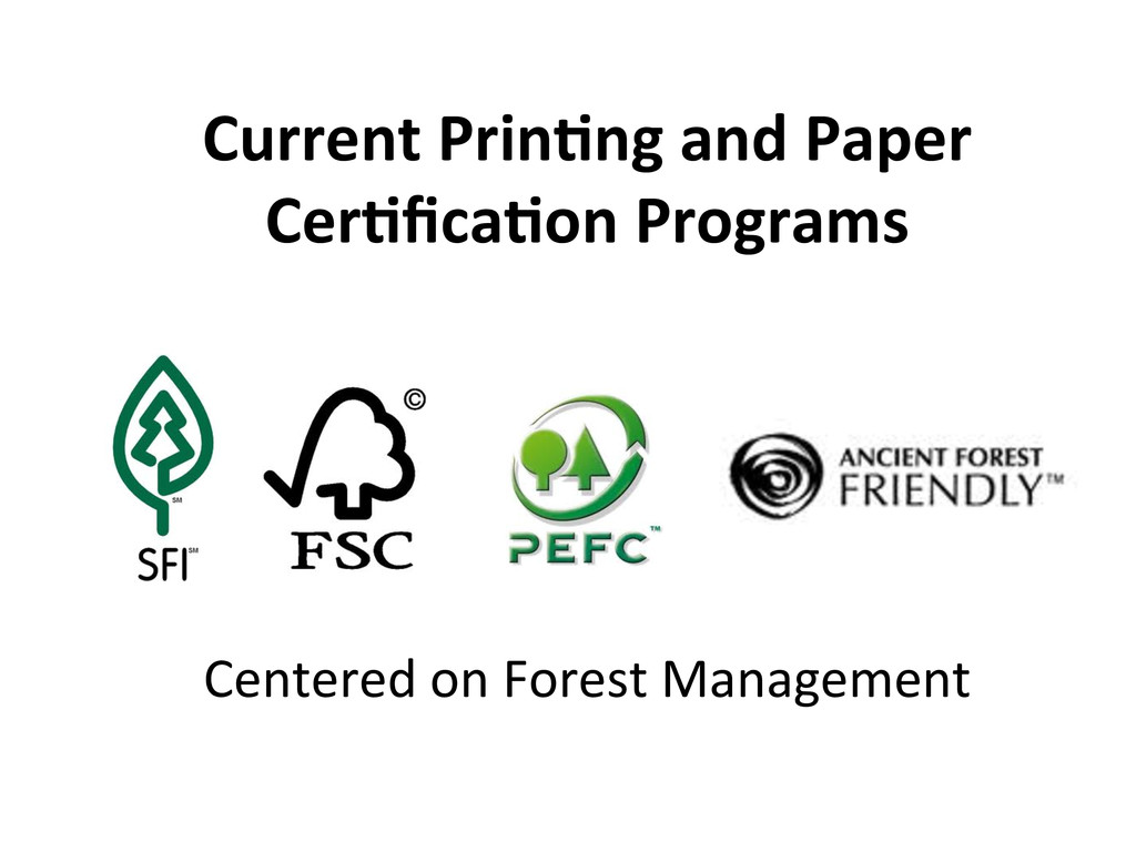 Centered on Forest Management   Cur...