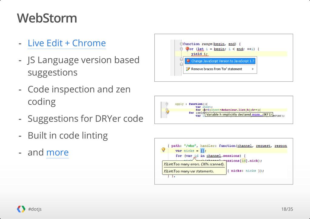 WebStorm #dotjs Live Edit + Chrome JS Language ...
