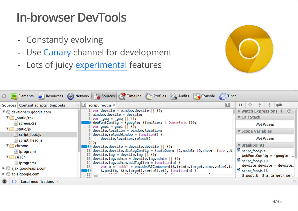 In-browser DevTools #dotjs Constantly evolving ...