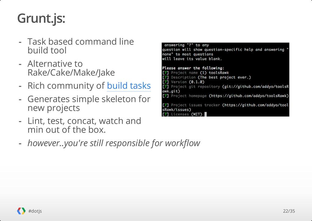 Grunt.js: #dotjs Task based command line build ...